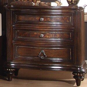 Wentzel 3 Drawer Nightstand by Astoria Grand