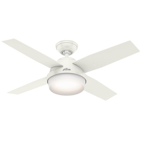 44 Dempsey with Light 4-Blade Ceiling Fan with Remote by Hunter Fan
