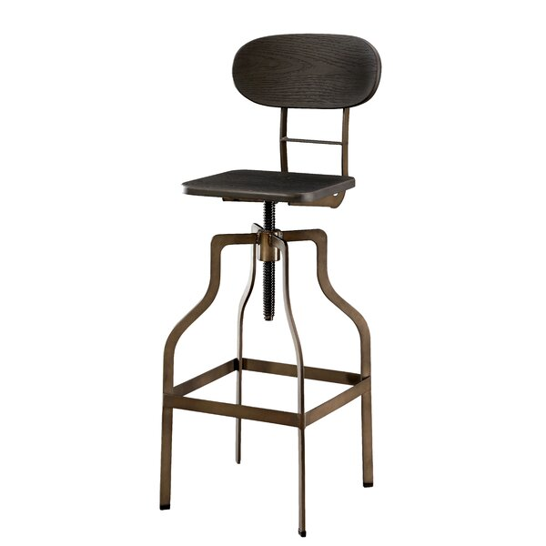 Denice Metal Adjustable Height Swivel Bar Stool by Greyleigh