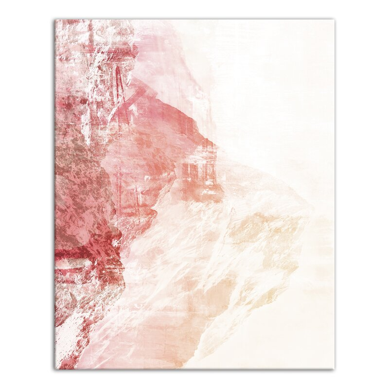 'Blush Pink Watercolor' Graphic Art Print on Canvas