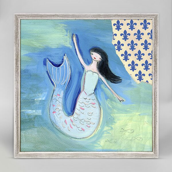 Brush Sirene by Creative Thursday by Marisa Framed Canvas Art by Harriet Bee