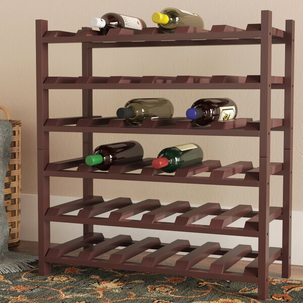 Karnes Scalloped 36 Bottle Floor Wine Bottle Rack by Red Barrel Studio Red Barrel Studio
