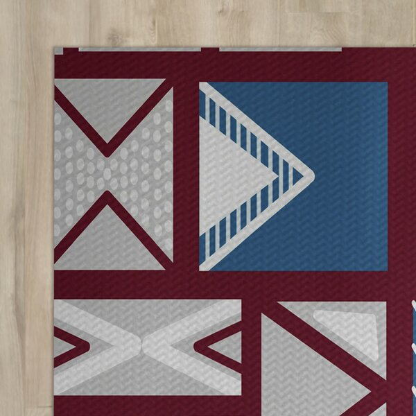 Red Indoor/Outdoor Area Rug by The Holiday Aisle