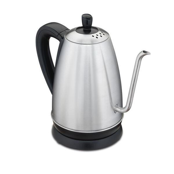 1.26 Qt. Gooseneck Stainless Steel Electric Tea Kettle by Hamilton Beach