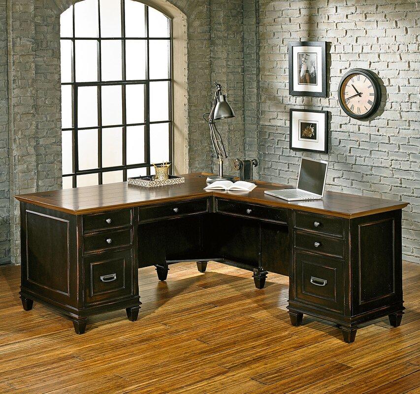 Hartford 3 Piece L Shaped Desk Office Suite