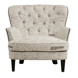 Stamm Script Upholstered Armchair