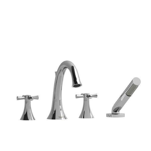 Edge Double Handle Deck Mounted Roman Tub Faucet by Riobel Riobel