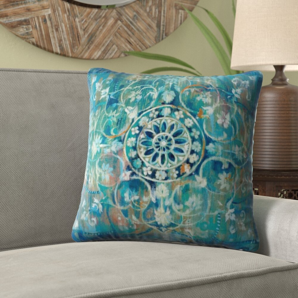 Awesome Margareta Mandala In Blue Velvet Throw Pillow Theyellowbook Wood Chair Design Ideas Theyellowbookinfo