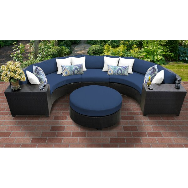 Medley 6 Piece Sectional Seating Group with Cushions by Rosecliff Heights
