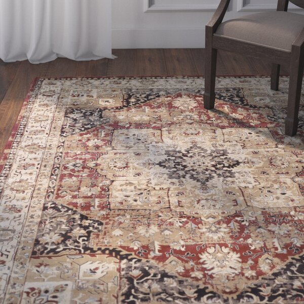 Basildene Red Area Rug by Darby Home Co