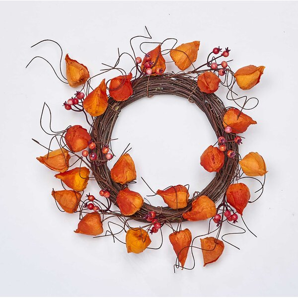 Chinese Lantern 12 Wreath by The Holiday Aisle