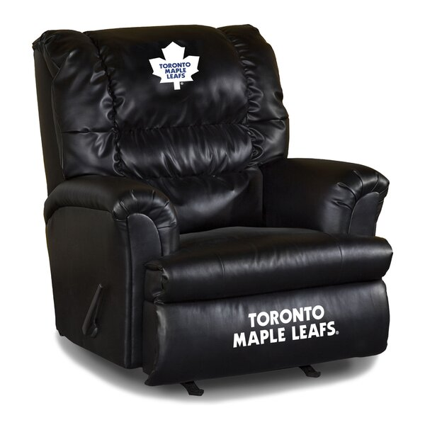 Nhl Big Daddy Leather Manual Recliner by Imperial International