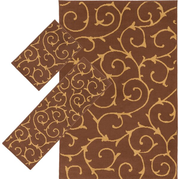 Caroga Brown 3 Piece Area Rug Set by Threadbind