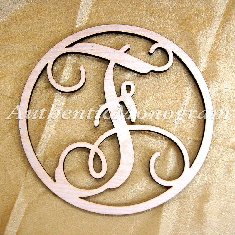 amonogramartunlimited circle frame monogram letter number door