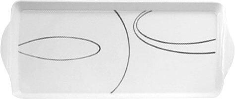 Simple Lines Melamine Tidbit Rectangle Serving Platter by Corelle