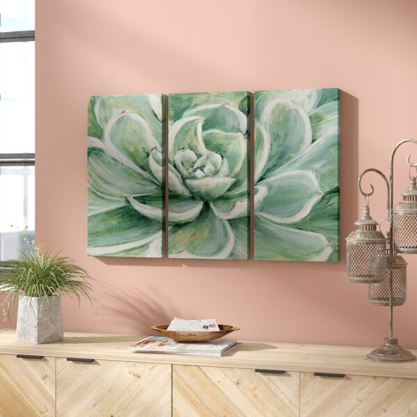 Succulent Acrylic Painting Print Multi Piece Image On Gallery Wrapped Canvas By Bungalow Rose.