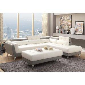 New Rochester Sectional  sc 1 st  AllModern : leather couch sectional - Sectionals, Sofas & Couches