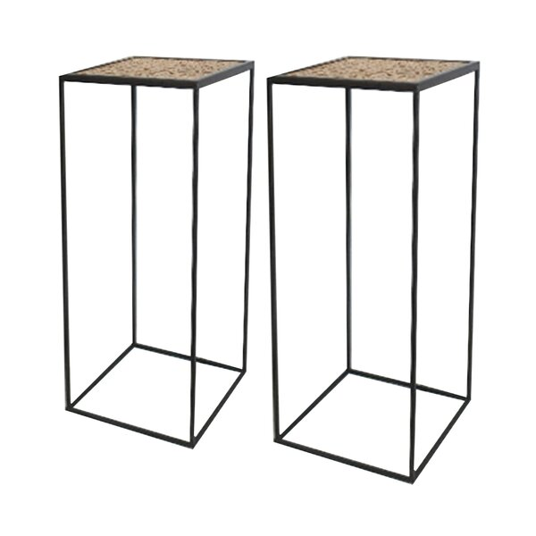 Niagara Solid Wood Drum Nesting Tables By Foundry Select
