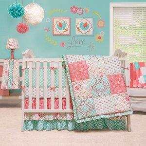Mila 4 Piece Crib Bedding Set