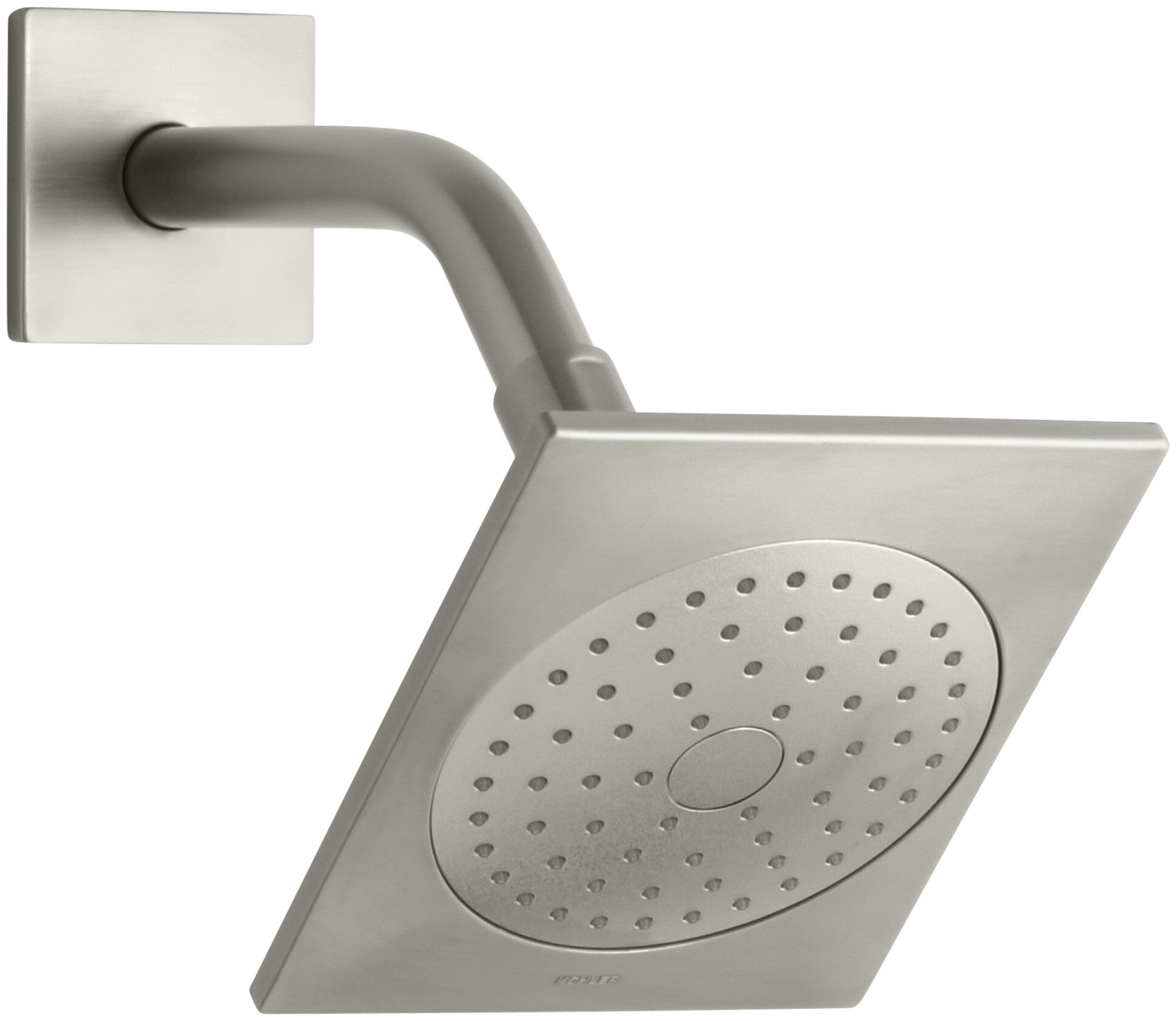 Loure 2 5 Gpm Single Function Shower Head With Katalyst Air Induction Spray