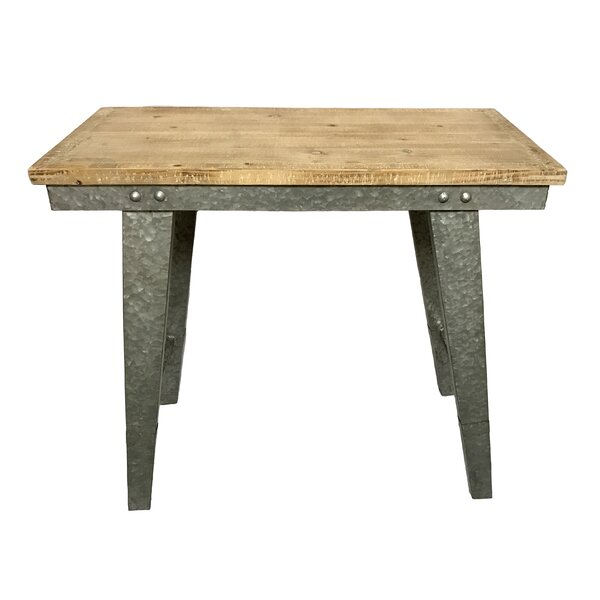 Pickard Wood and Galvanized Farmhouse Console Table by Gracie Oaks Gracie Oaks