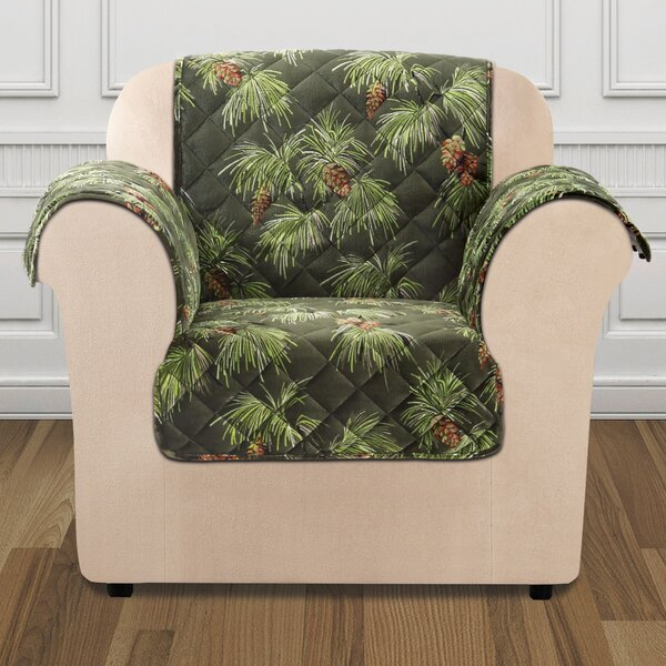 Lodge Box Cushion Armchair Slipcover by Sure Fit