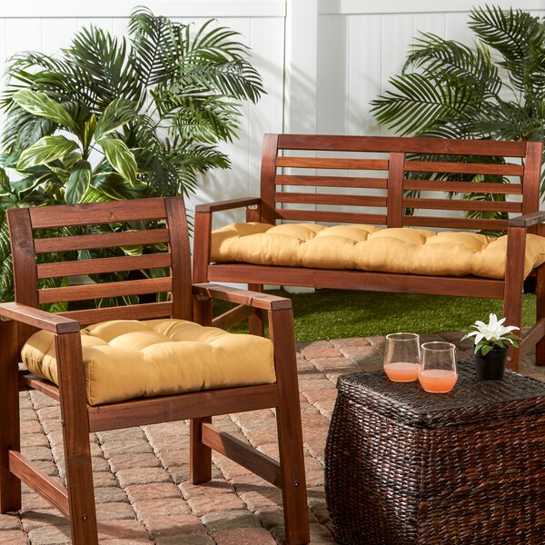 Indoor/Outdoor Sunbrella Bench Cushion by Greendale Home Fashions