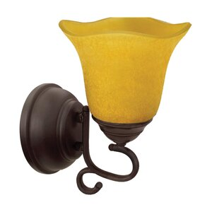 Battery powered wall sconce wayfair valencia 1 light battery operated armed sconce mozeypictures Choice Image