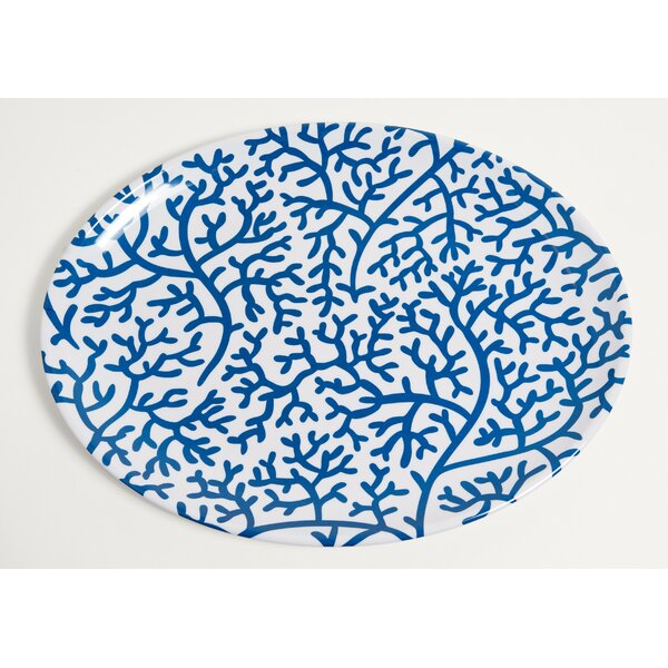 Yacht and Home Coral Melamine Oval Platter by Galleyware Company
