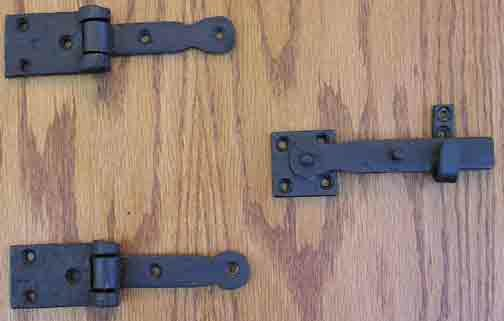 6 H × 1.5 W Surface Mount Pair Door Hinges by Agave Ironworks
