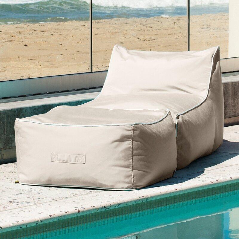 hip chik chairs sunbrella bean bag lounger set reviews wayfair rh wayfair com bean bag outdoor lounge chair bean bag outdoor lounge chair