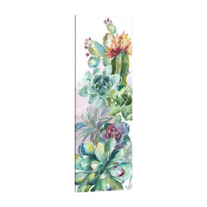 'Succulent Garden I' Print on Wrapped Canvas by Bungalow Rose