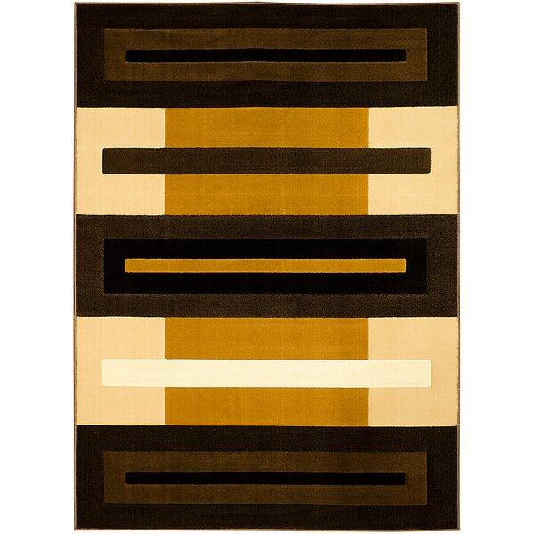 Brown/Beige Area Rug by AllStar Rugs