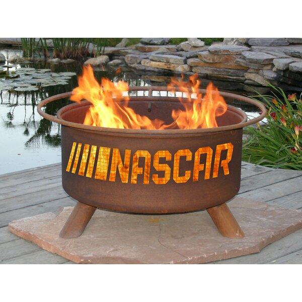 Nascar Steel Charcoal Fire Pit by Patina Products
