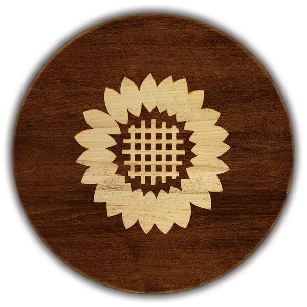 Artisan Woods Sunflower Round Serving Platter by Martins Homewares
