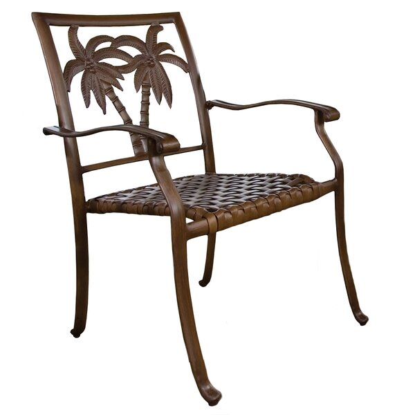 Saskia Stacking Patio Dining Chair by Beachcrest Home