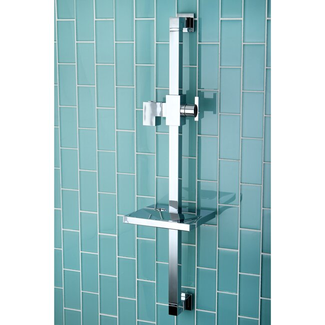 Claremont 23 6 Square Shower Slide Bar With Soap Dish