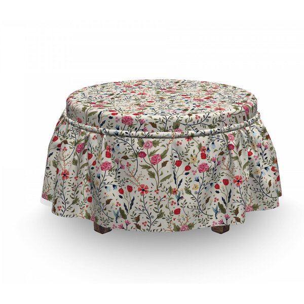 Flora And Fauna Ottoman Slipcover (Set Of 2) By East Urban Home