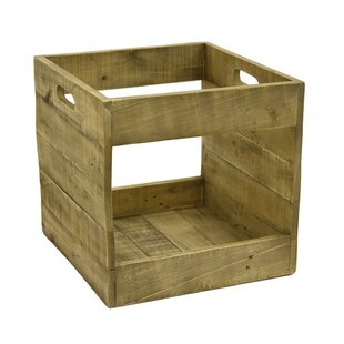 Bon Record Storage Wood Crate