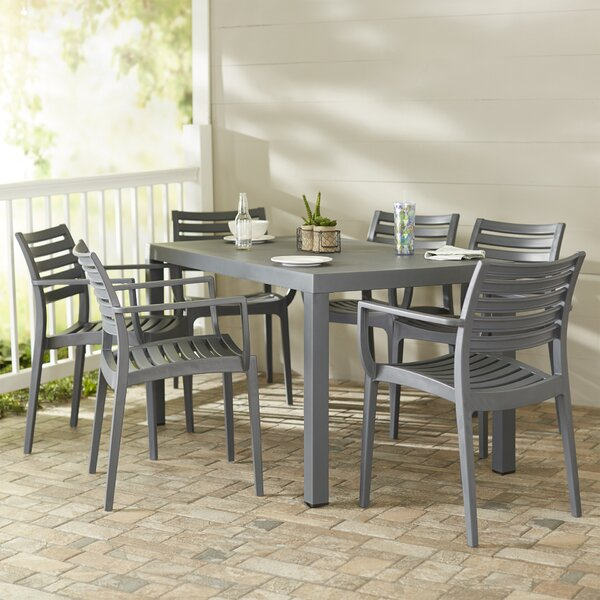 Nikoleta 7 Piece Dining Set by Mercury Row