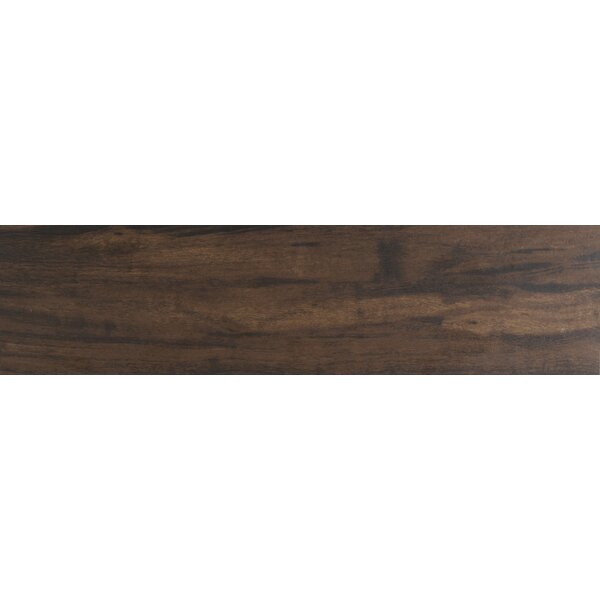 Botanica Teak 6 x 24 Porcelain Wood Tile in Glazed Textured by MSI