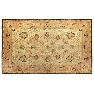 One-of-a-Kind Hand-Woven Wool Ivory/Green Area Rug By Exquisite Rugs