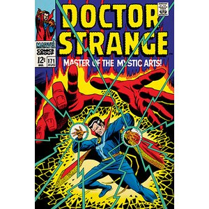 'Doctor Strange, Issue #171 Cover' Vintage Advertisement on Canvas by East Urban Home