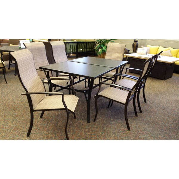 Lyusha 7 Piece Patio Dining Set by Red Barrel Studio