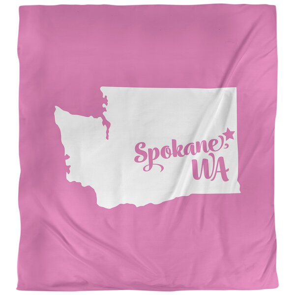 Spokane Washington Single Reversible Duvet Cover