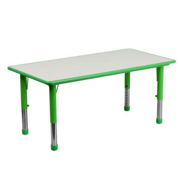 Adjustable Plastic 47.25'' L x 23.63 W Rectangular Activity Table by Offex
