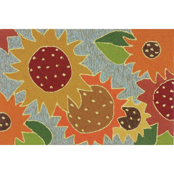 Dellroy Sunflower Impression Multi Indoor/Outdoor Area Rug by Charlton Home