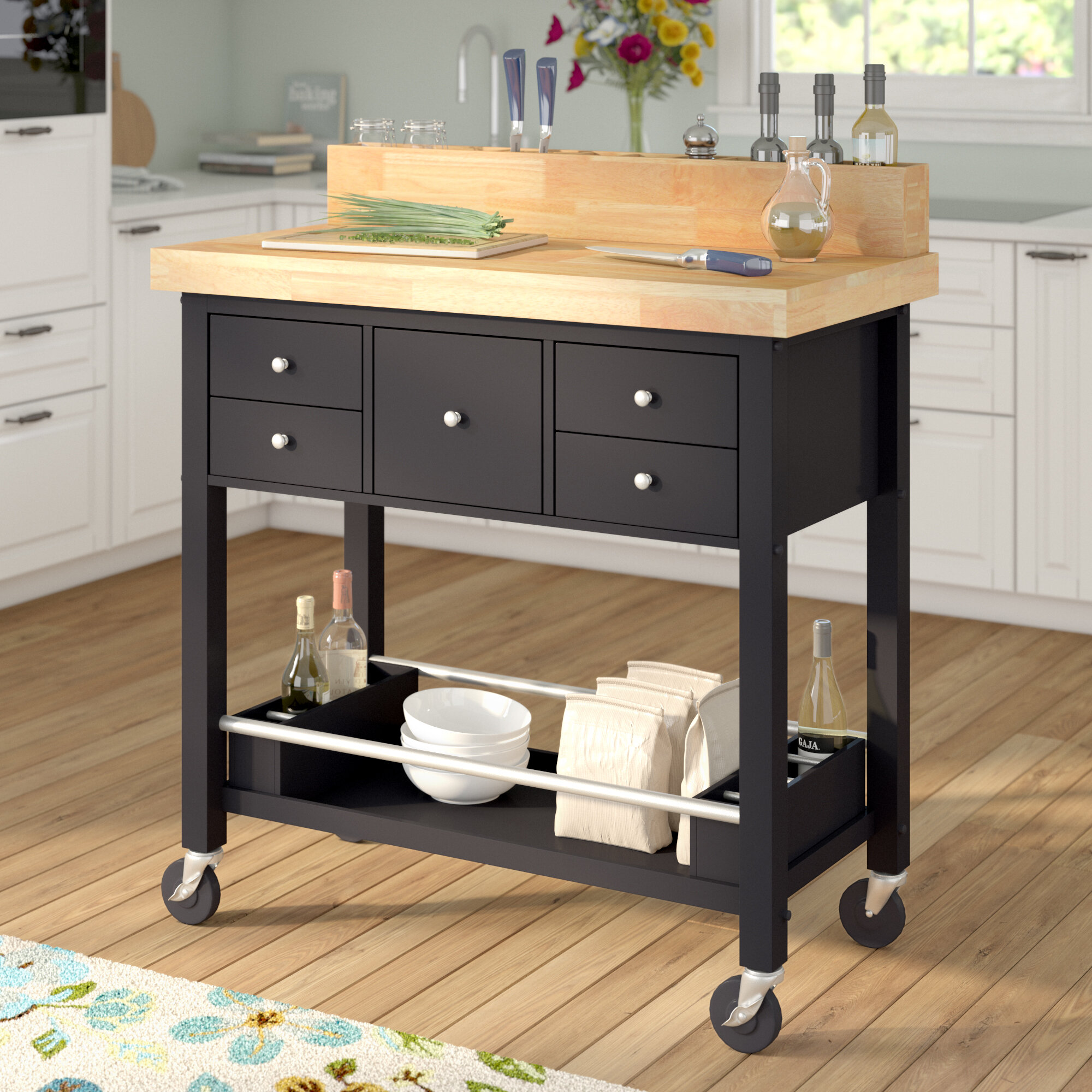 Red Barrel Studio Iron Horse Kitchen Island | Wayfair