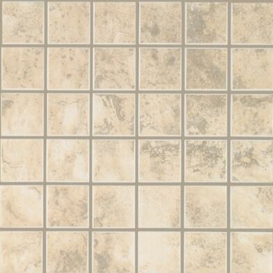 Pavin Stone 2 x 2 Ceramic Mosaic Tile in White Linen by Mohawk Flooring