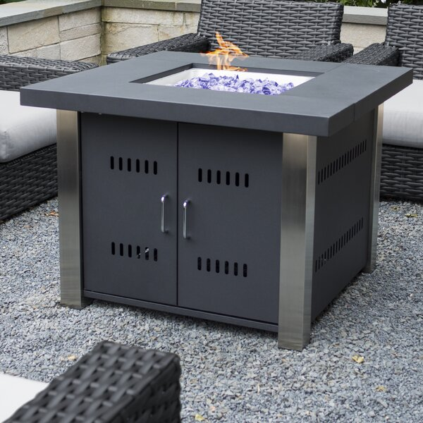Montreal Stainless Steel Propane Fire Pit Table by Pleasant Hearth